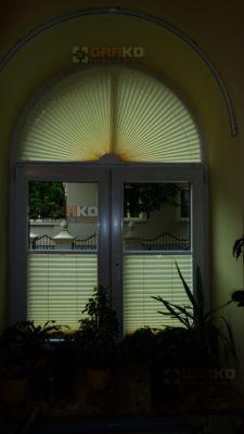 Plisy okienne - montaż w Warszawie u klienta GRAKO
